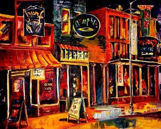 """Beale Street Blues"" Painting by Diane Millsap From ebsqart.com"