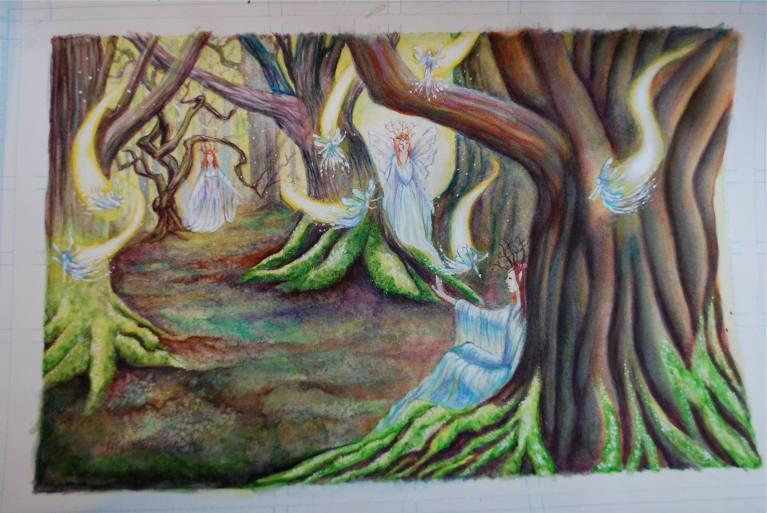 christmas ponies artwork fairies