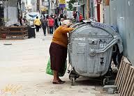 woman dumpster